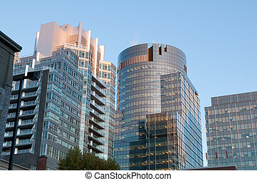 Montreal view - Seen of some buildings in the center of...