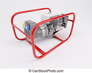 Gas Powered Generator - 3D render of a Gas powered generator