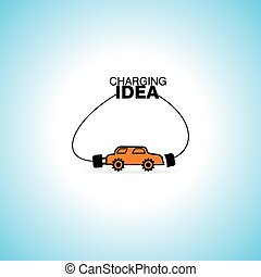 car charging idea concept