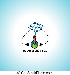 solar energy idea concept vector illustration