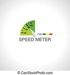 meter over white background