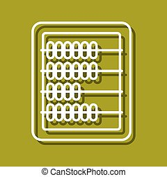 Abacus icon - Linear icon of abacus for use in logo or web...