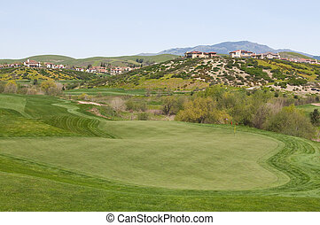 Golf course homes - Hilltop homes overlooking golf course,...