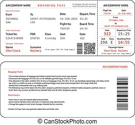 Boarding pass - Simple and clear airplane boarding pass...