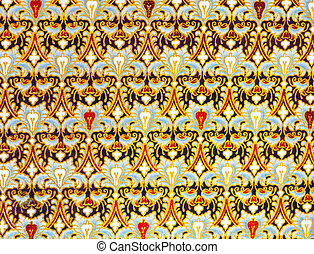 Drapery vector pattern. - Ornament drapery vector pattern....