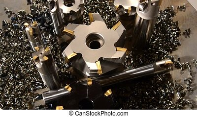 milling bits detail close up - industrial details, milling...