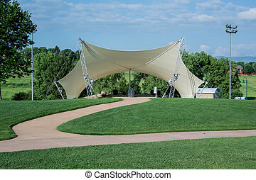 Small Amphitheatre - An awning covers an amphitheater in a...