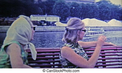 1969: Relaxing River trip past the Eiffel tower - Unique...
