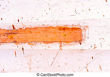red brown and orange paint abstract background - orange and...