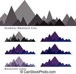 Mountains icons