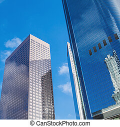 Fragment of high tech facade office modern building