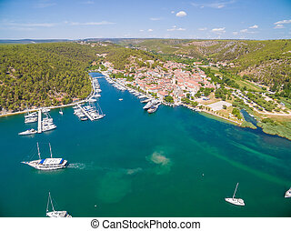 Old town of Skradin, Croatia - Old town of Skradin at...
