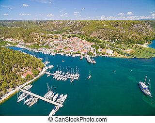 Old town of Skradin, Croatia - Old town of Skradin at...