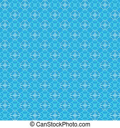 Seamless blue pattern with bright b