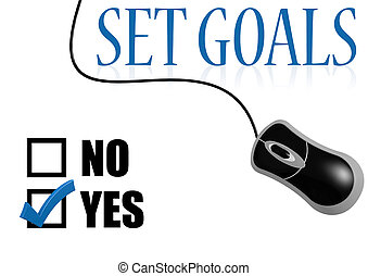 Set goals check mark image with hi-res rendered artwork that...