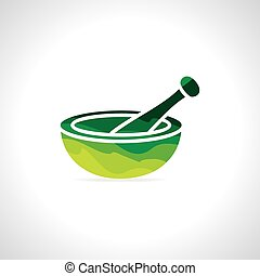 Mortar and pestle - abstract mortar and pestle vector...