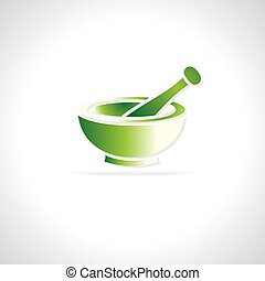 Mortar and pestle - mortar and pestle vector illustration