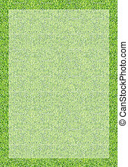 Vertical green grass texture background border
