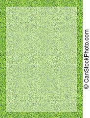 Vertical green grass texture background border