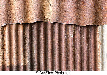 rusty old zinc background - close up rusty old zinc texture...