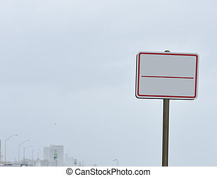 Blank Street Sign - A blank street sign erected near the...