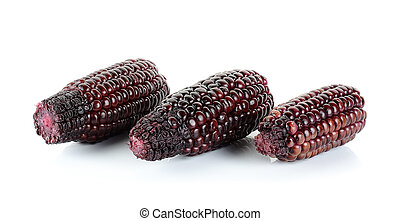 Red corn isolated on the white background