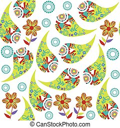 Paisley seamless pattern, vector