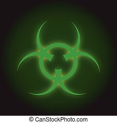 Bio Hazard Sign - Bio hazard sign with a dark green grunge