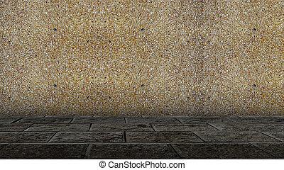 Brick walls . - Brick walls of old houses.