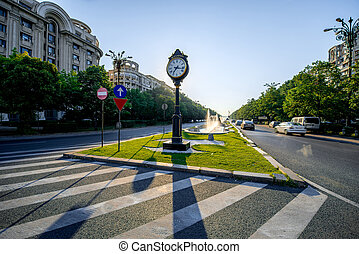 Central square in Bucharest - Central square near parliament...