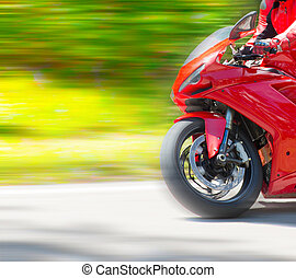 Motorbike racing - Dynamic and realistic motorbike racing