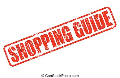 Shopping Guide red stamp text on white
