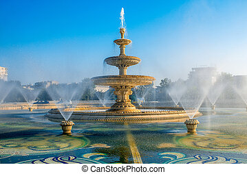 Bucharest central city fountain - Central city fountain in...