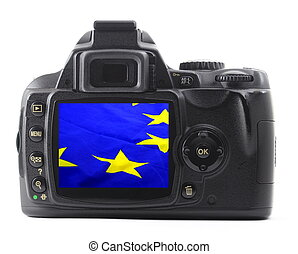 eu flag in digicam