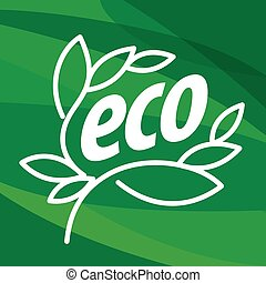 Abstract eco vector logo in the form of plants