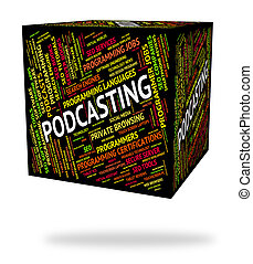 Podcasting Word Means Webcast Broadcasting And Broadcast -...