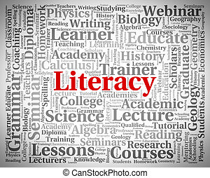 Literacy Word Means Read Proficiency And Ability - Literacy...