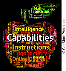 Capabilities Word Means Proficiency Words And Potential -...