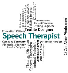 Speech Therapist Represents Therapists Verbal And...