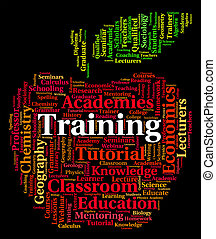 Training Word Shows Words Lessons And Education