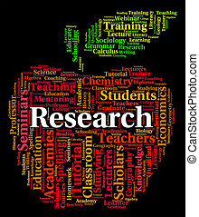 Research Word Shows Gathering Data And Analyse