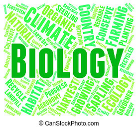 Biology Word Shows Animal Kingdom And Educate - Biology Word...