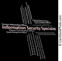 Information Security Specialist Shows Skilled Person And Specialists