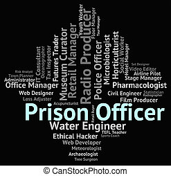 Prison Officer Shows Detention Centre And Employee - Prison...