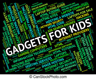 Gadgets For Kids Indicates Mod Con And Widget - Gadgets For...