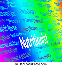 Nutritionist Job Indicates Position Words And Experts -...