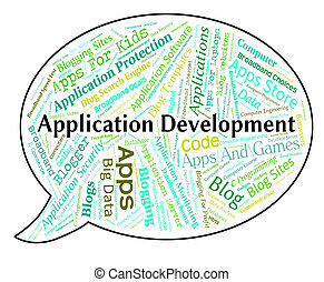 Application Development Shows Programs Enlargement And...