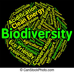 Biodiversity Word Means Plant Life And Animal - Biodiversity...