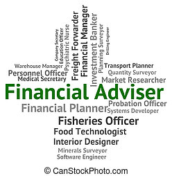 Financial Adviser Shows Aide Commerce And Tutor - Financial...