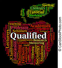 Qualified Word Indicates Professional Text And...